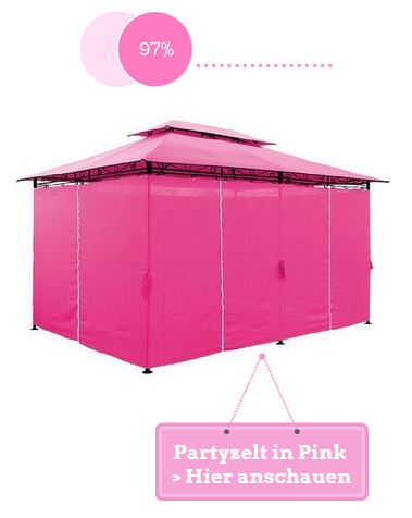 Partyzelt in Pink