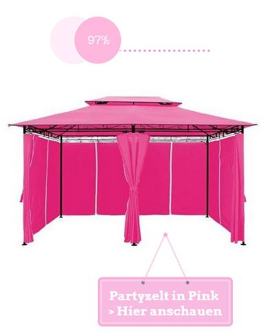 Partyzelt Pink